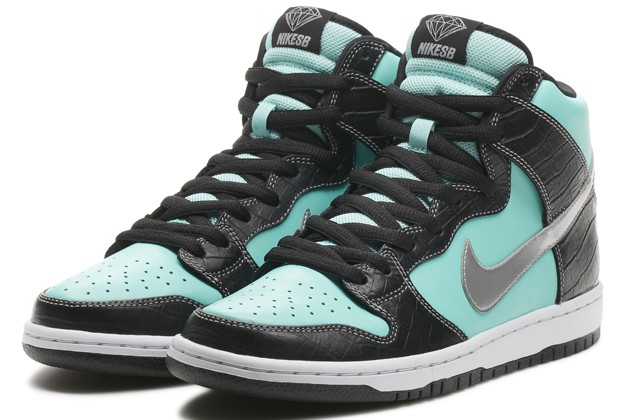 The Nike SB x Diamond Dunk High