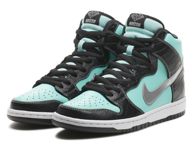 The Nike SB x Diamond Dunk High
