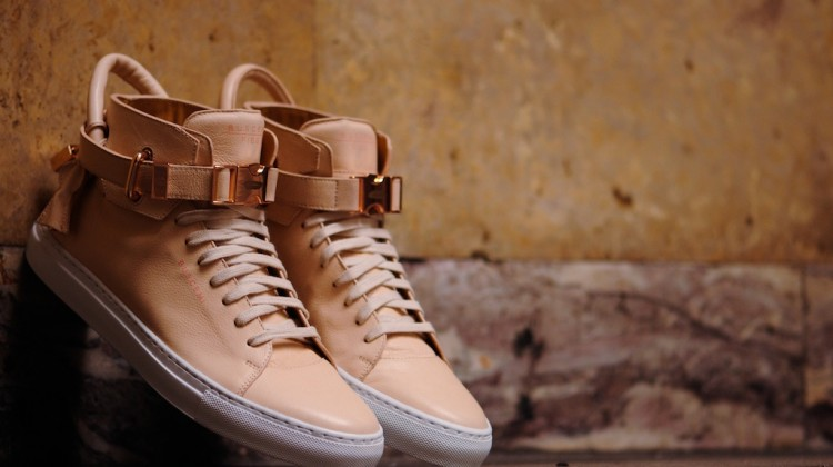 Ronnie Fieg x Buscemi 100mm Veg Tan/Rose Gold