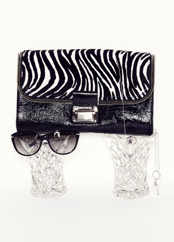 BURBERRY sunglasses from Sunglass Hut, $360; JIMMY CHOO bag, $2695; ALICIA HANNAH NAOMI necklaces, $360 and $310. - See more at: http://www.russhmagazine.com/fashion/shoots/believe-the-hype/#sthash.jxmAfMSP.dpuf